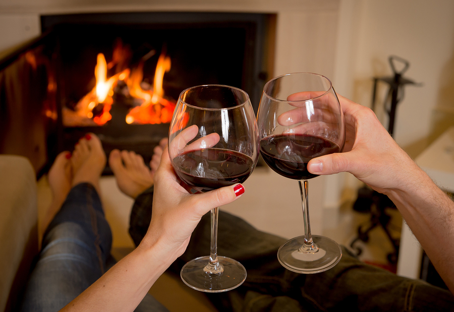 evening wine reception at old monterey inn