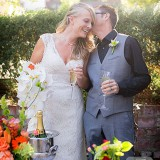 A garden wedding in Monterey