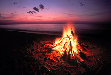Bonfire on the Beach in Monterey