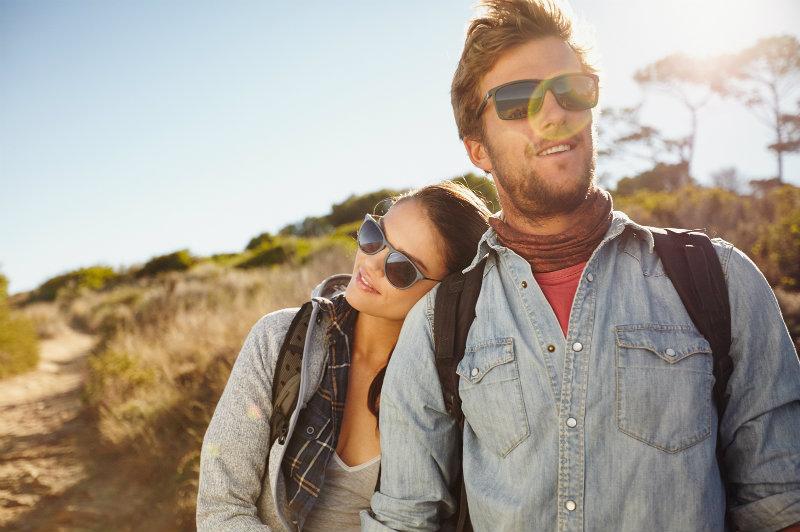 Couple Hiking Near Monterey CA