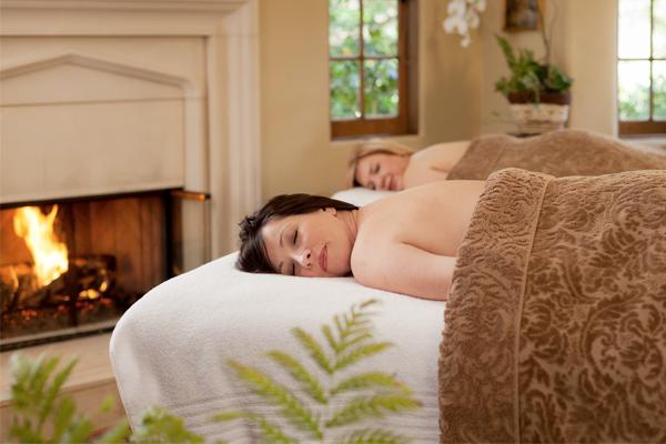 Two women in a spa