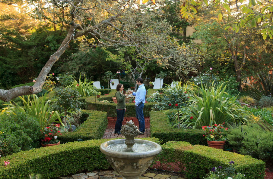 Romantic Gardens at Old Monterey Inn